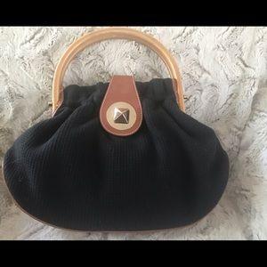 Kate spade black woven satchel